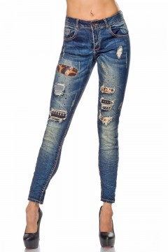 Decorated Jeans (blue)