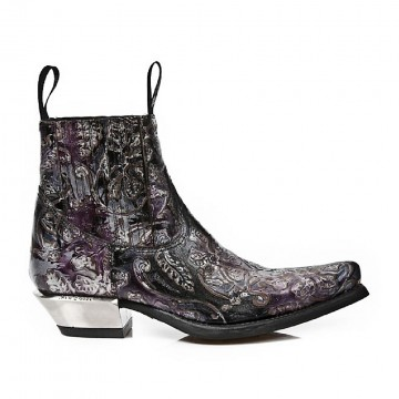 Vintage Flower Ankle Boots WEST