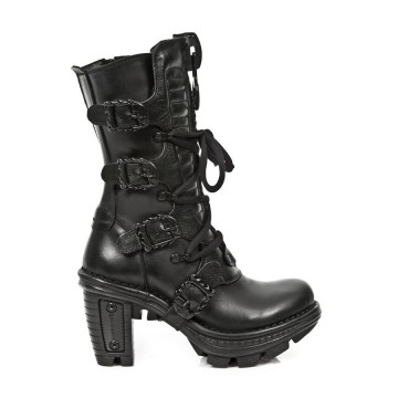Black Leather Boots NEOTRAIL