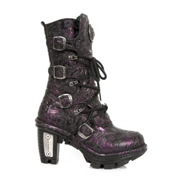 Vintage Flower Leather Boots NEOTRAIL