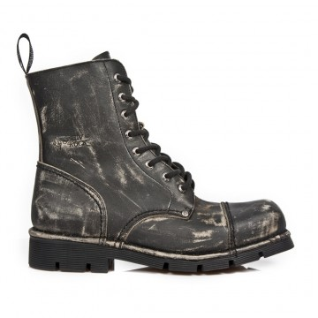 Distressed Leather Boots NEWMILI