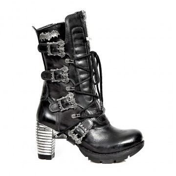 Black Leather Boots TRAIL M.TR090-S1