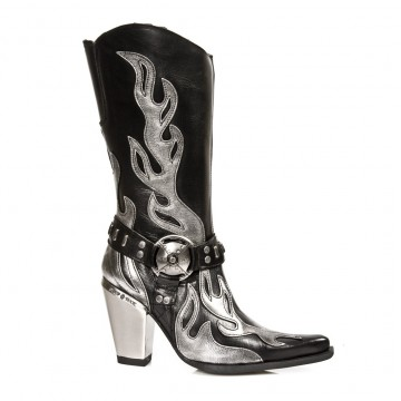 Silver Flame Boots Bull