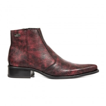 Red Ankle Boots NEWMAN