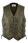 Leather Vest with Snaps