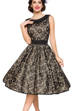 Vintage Lace Dress (black/beige)