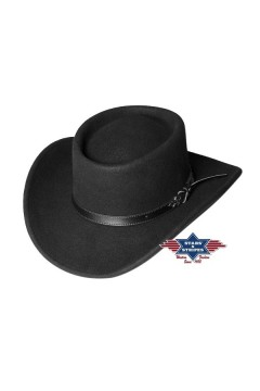 Felt Western Hat Bad Beat (black)