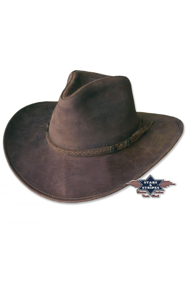 Leather Western Hat Bandera