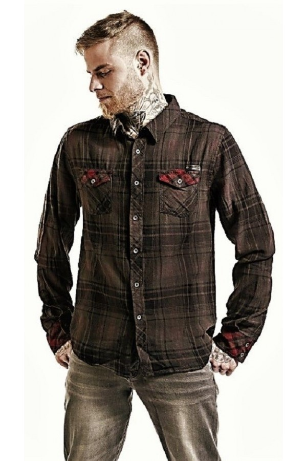Duncan Shirt (black-brown)