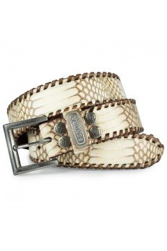 Sendra Leather White Python Belt (bright)