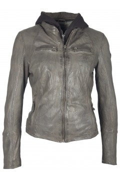 Women's Leather Jacket Nola (grey)