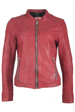 Women's Leather Jacket Mossi (red)