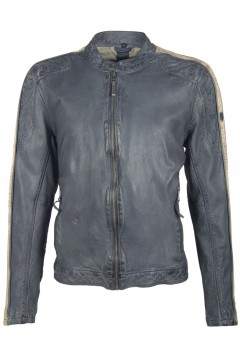 Men's Leather Jacket Quinto (black)
