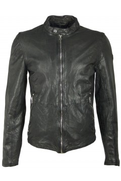 Men's Leather Jacket Hank (black)