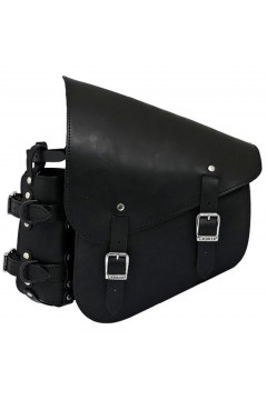 Leather Saddlebag to Frame (black)