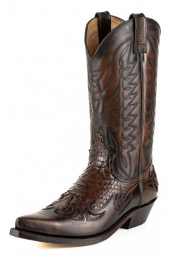 Python Leather Boots 1935 (brown)