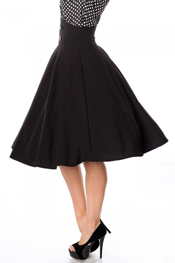 OVER KNEES ROCKABILLY SKIRT (black)