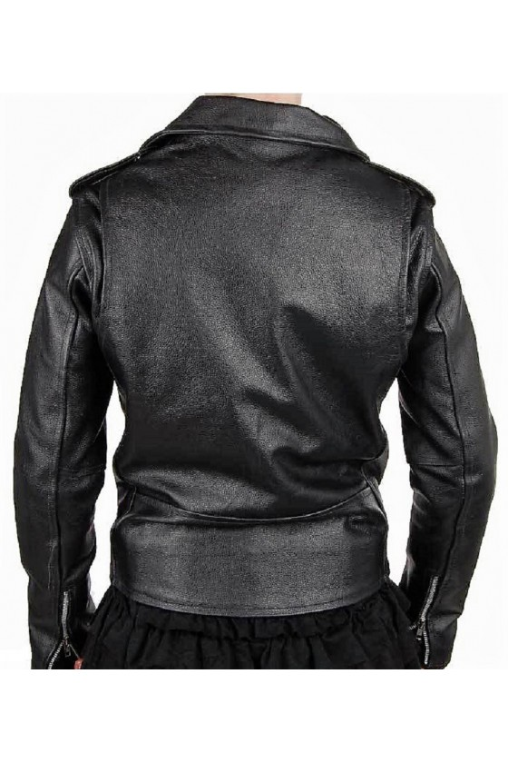Womens Rockabilly Leather Jacket (black)