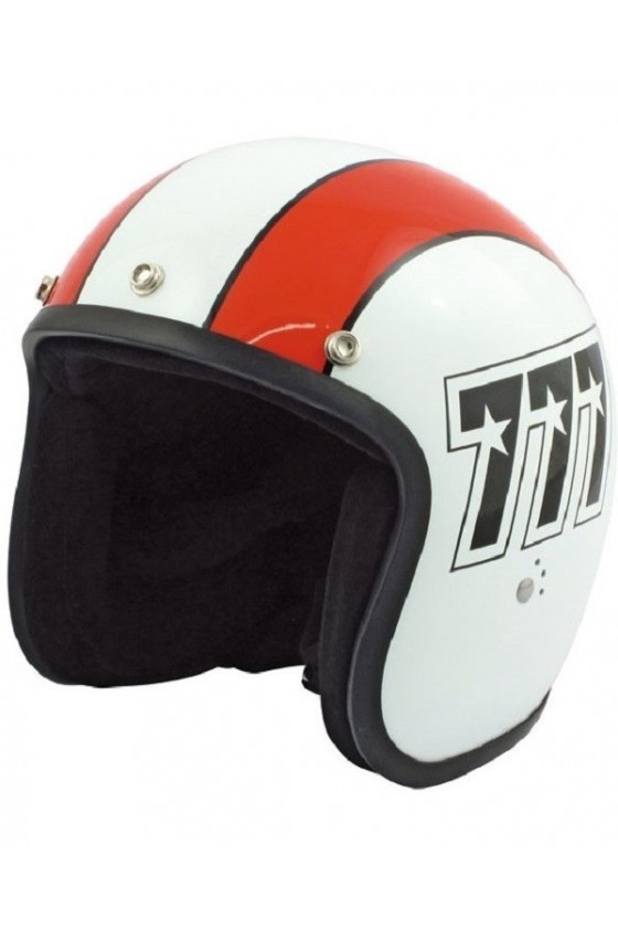Motorcycle Jet Helmet 777 Bandit (white/orange)