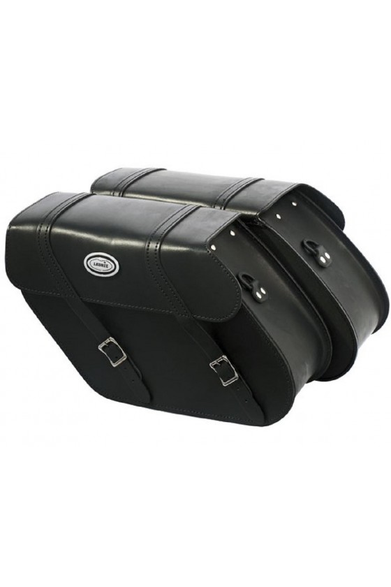 Saddlebag Black Leather (20 liter)