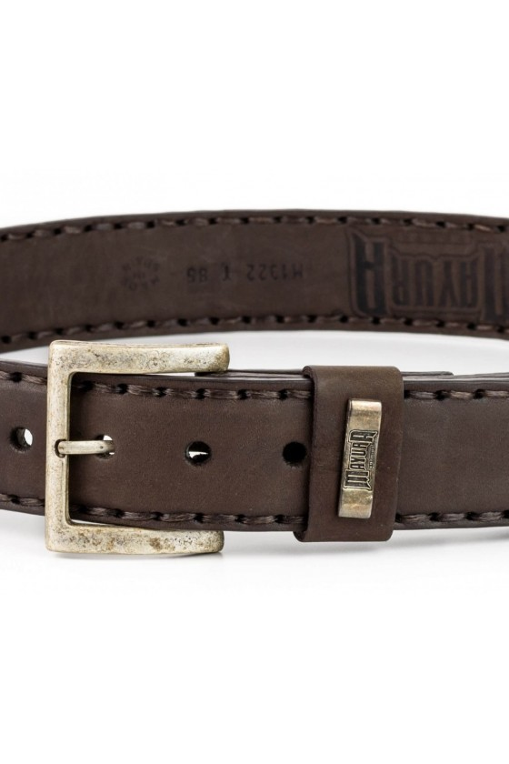 DECORATED LEATHER BELT (brown)