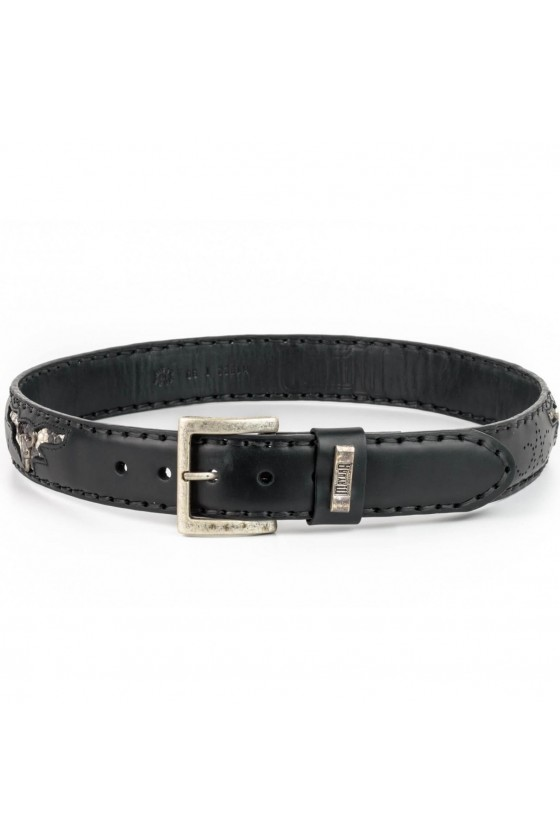 DECORATED LEATHER BELT (black)