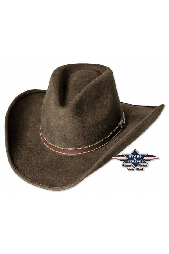 Felt Western Hat Tom (brown)