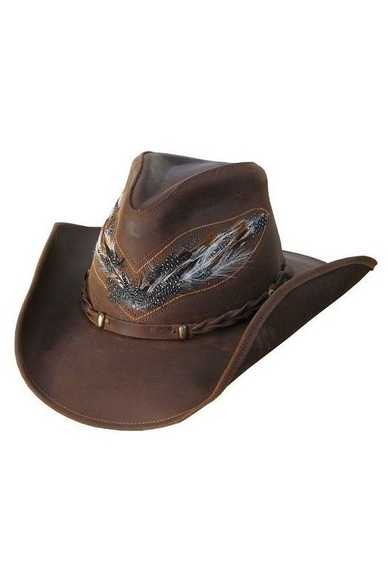Leather Western Hat Outback