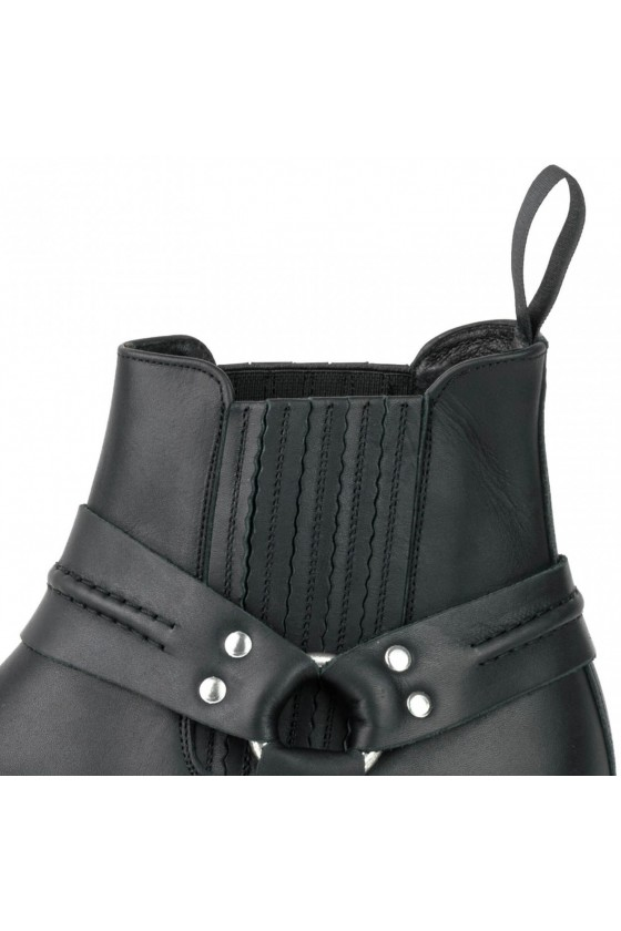 NR.1 LEATHER ANKLE BOOTS (black)