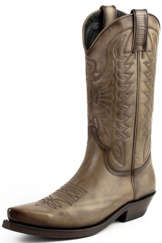 Leather Cowboy Boots 1920 (taupe)