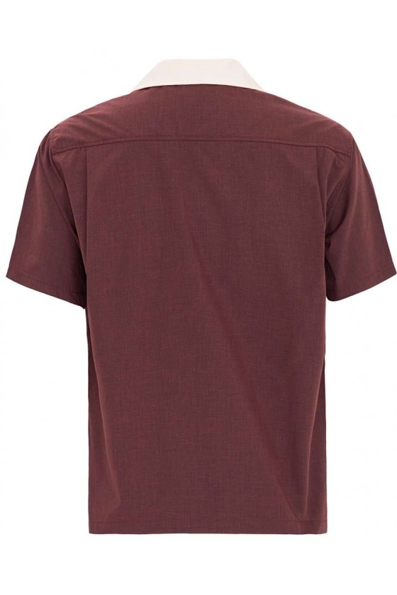 MEN'S SHIRT BOWLING (burgundy)