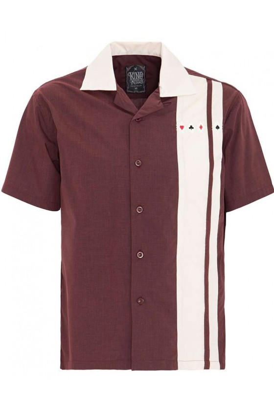 Men Shirt Bowling (burgundy)