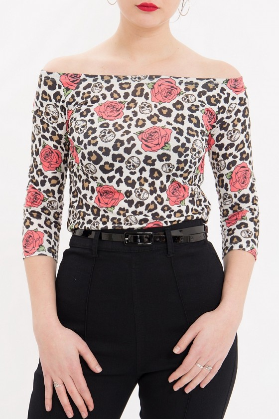 Women's Shirt Leo & Roses (off-white)
