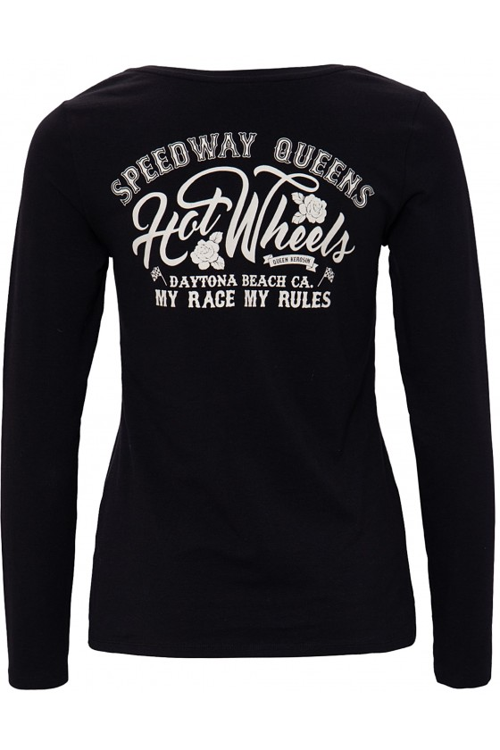 WOMEN'S LONGSLEEVE SHIRT HOT WHEELS (black)