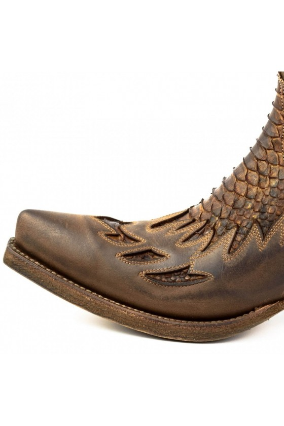 ZIPPERED COWBOY BOOTS (testa brown)