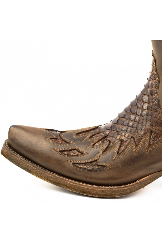 ZIPPERED COWBOY BOOTS (castano brown)
