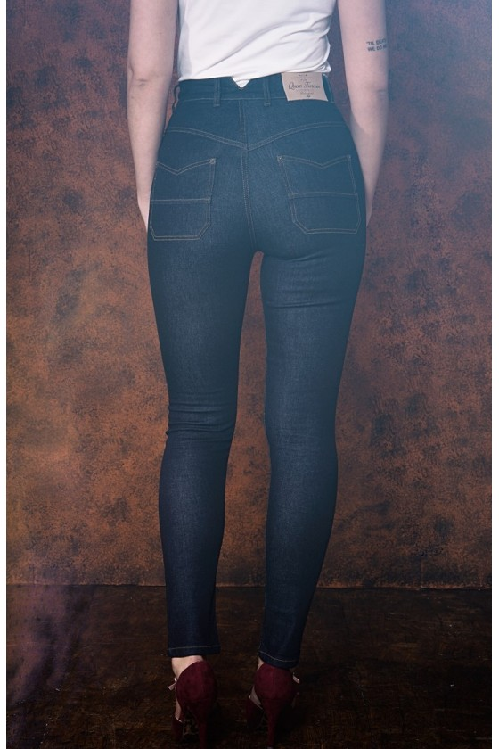 BETTY JEANS WITH HIGH WAIST (denim blue)