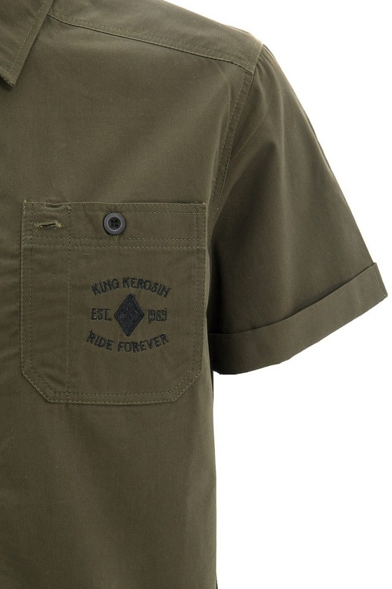 Men's Shirt with Two Embroidery (olive)