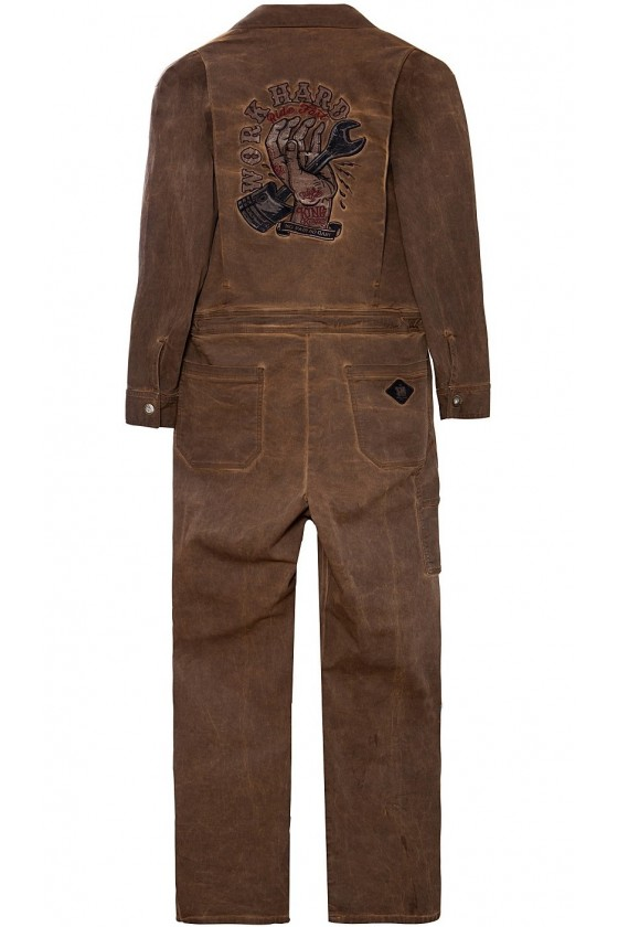 OIL WASHED OVERALL (brown)