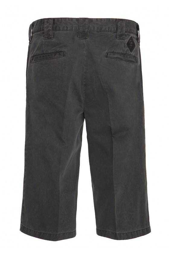 MEN'S 3/4 OIL-WASHED SHORTS (black)