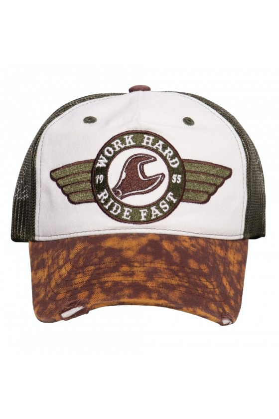 Trucker Cap Work Hard (brown)