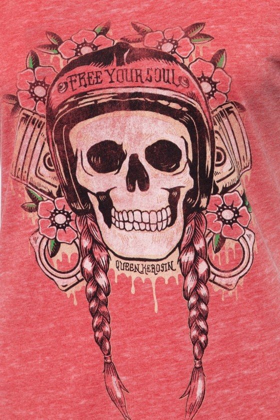 WOMEN'S T-SHIRT FREE YOUR SOUL (red)