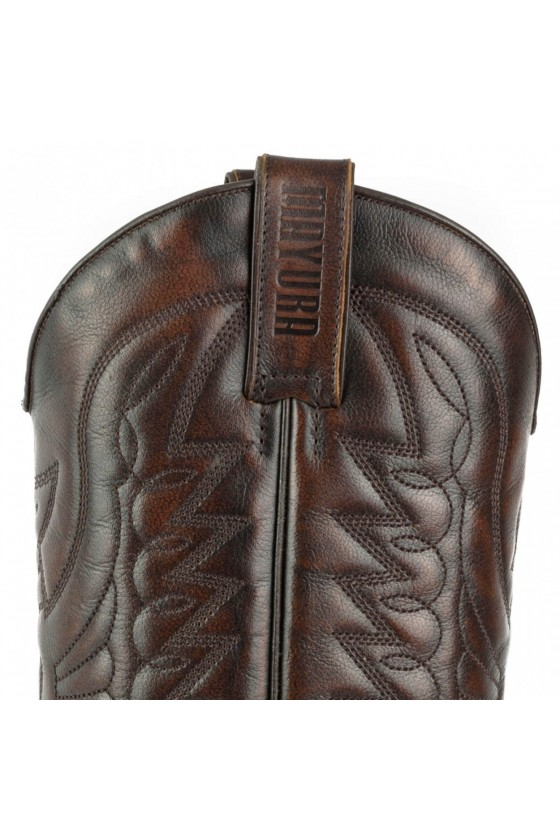 PYTHON LEATHER EXTRAS COWBOY BOOTS 1935 (dark brown)