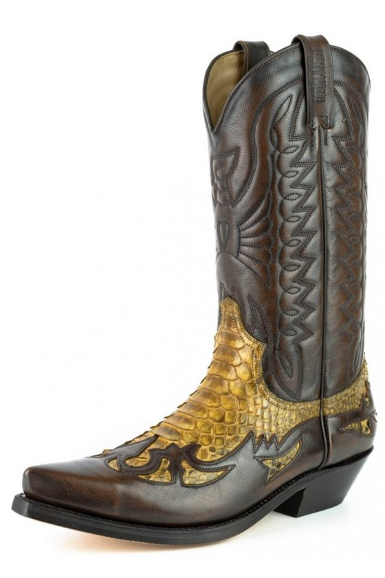 PYTHON LEATHER EXTRAS COWBOY BOOTS 1935 (camel)