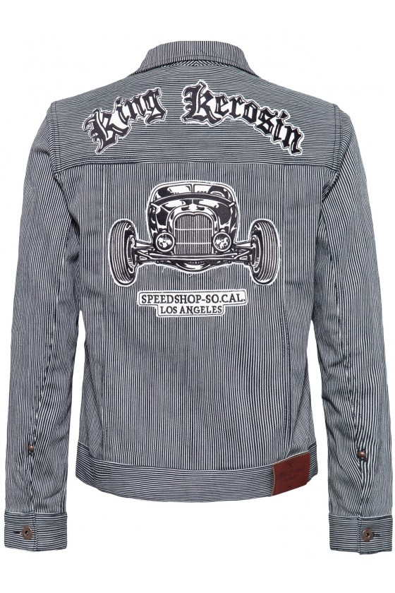 SPEEDSHOP SOCAL DENIM JACKET (striped)