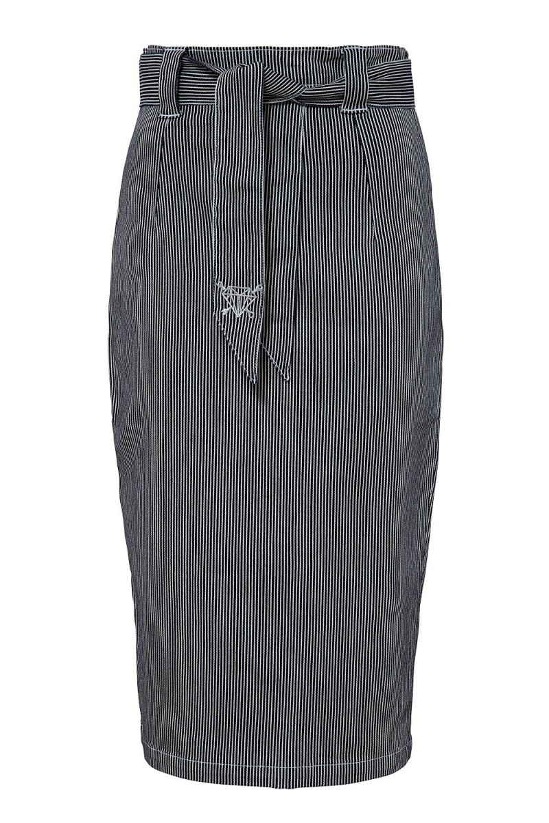 PENCIL SKIRT WITH BELT (striped)