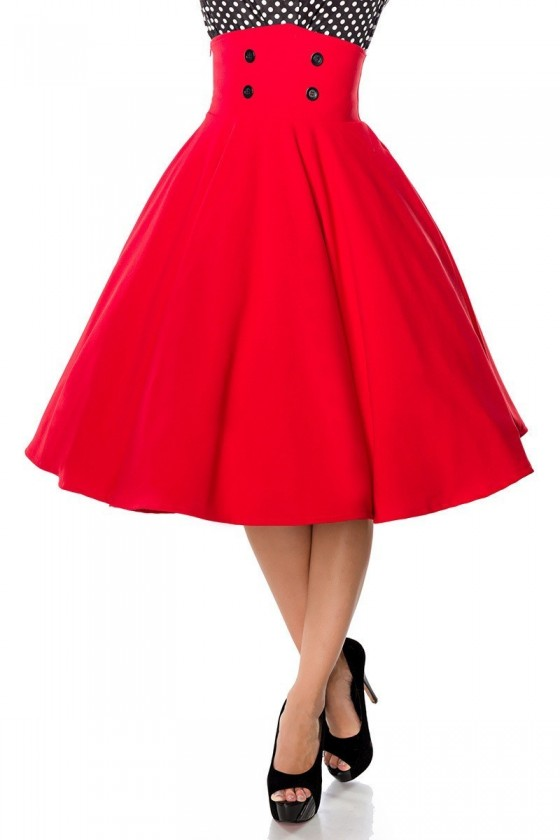 OVER KNEES ROCKABILLY SKIRT (red)