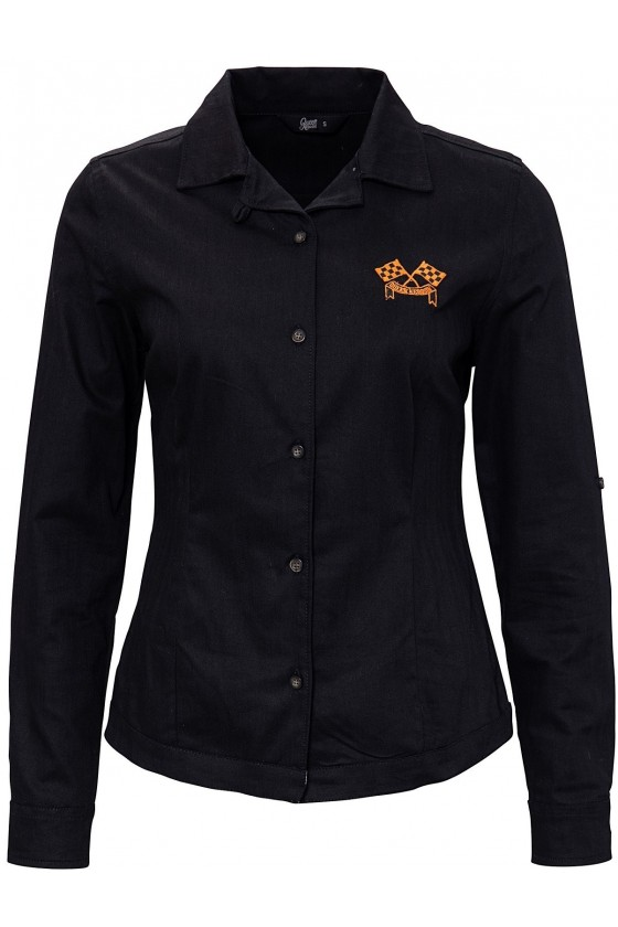 LONG SLEEVE BLOUSE MOTOR QUEEN (black)
