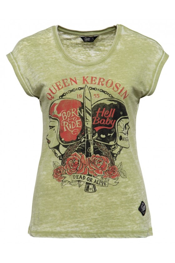 LADIES T-SHIRT HELL BABY (green)