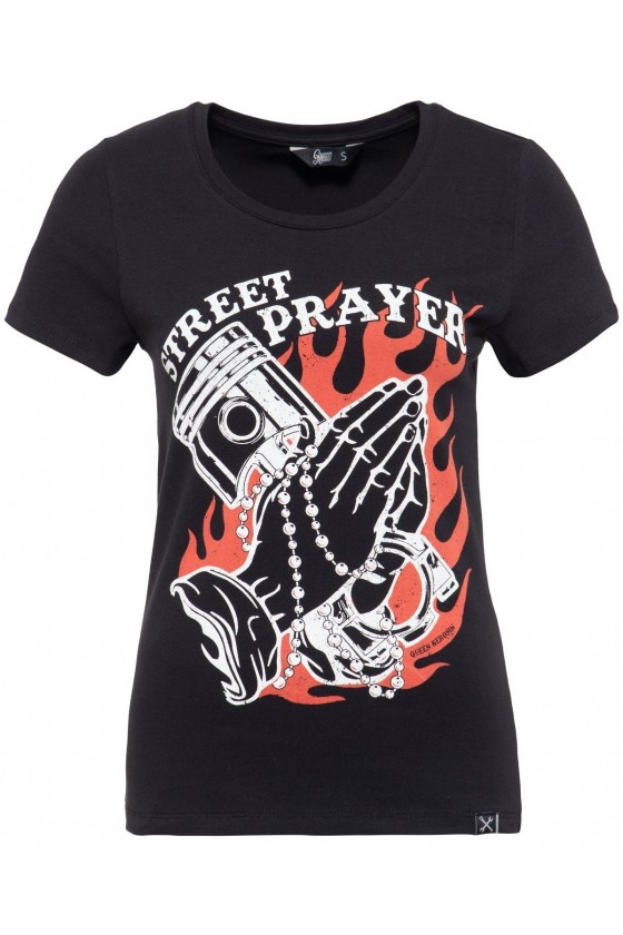 WOMEN'S T-SHIRT STREET PRAYER (black)